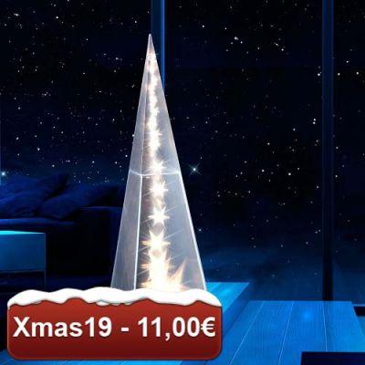 Pirâmide estilo holograma com luzes LED