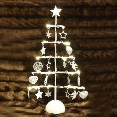 Árvore de Natal Metálica com LED - Branca - NA1286