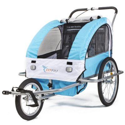 Atrelado Duplo de Bicicleta para Criança