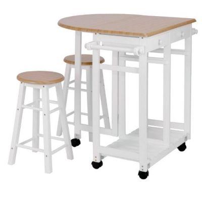 Mesa bar/ Carrinho de Apoio com Banquetas –CJC555