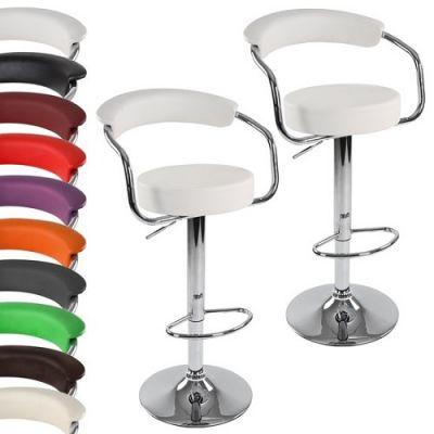 Conjunto 2 Cadeiras Bar Retro-Look Ajustáveis