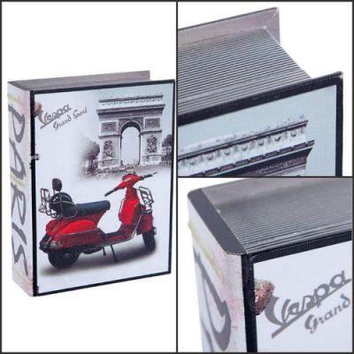 """Pack 3 Caixas Livro """"Vespa"""""""