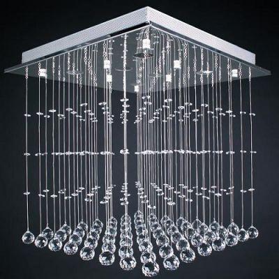 Candeeiro Quadrado de Cristal