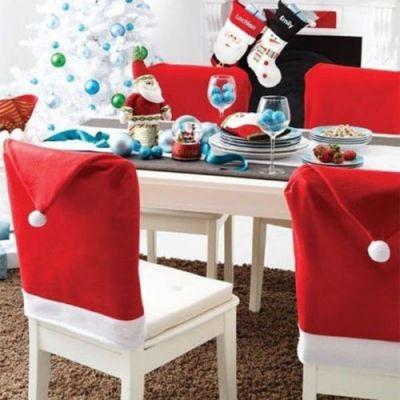 4 Coberturas de Natal para Encosto de Cadeira-NA552