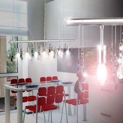 Candeeiro de Sala com Pingentes de Cristal – IDA