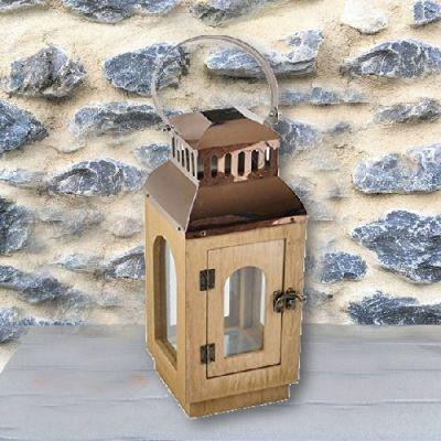 Lanterna Porta Velas em Madeira