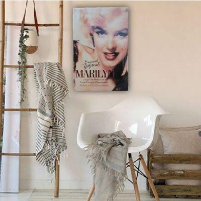 Placa Metálica Decorativa Vintage Marilyn Monroe
