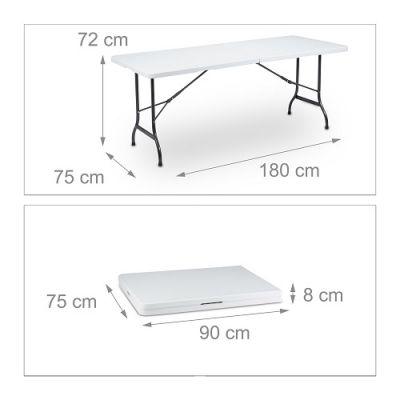 Mesa de Catering Dobrável 180cm