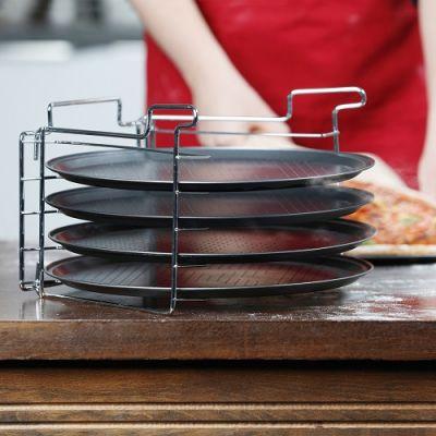 Set de 4 Tabuleiros de Pizza com Suporte - CJU1140