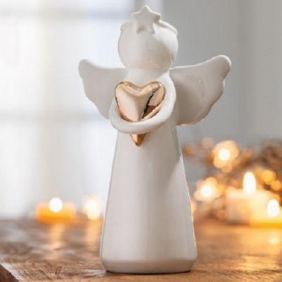 Anjo em Porcelana Heart