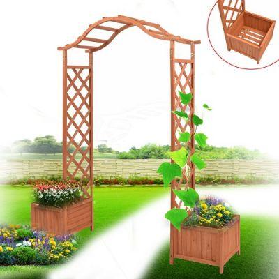 Arco de jardim com 2 floreiras