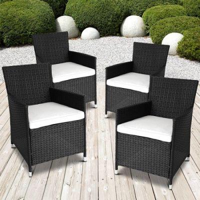 Conjunto 4 Cadeiras de Jardim em Polyrattan - CJJ1763