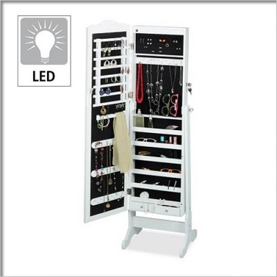Espelho Organizador de Acessórios com Luz LED