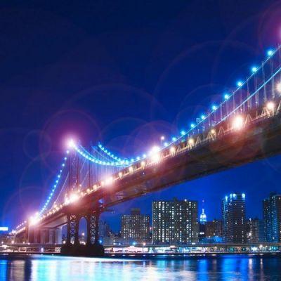 Mural com Iluminação LED Manhattan Bridge CJD412