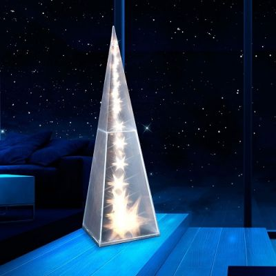 Pirâmide Est.Holograma Luzes LED  45cm – NA553