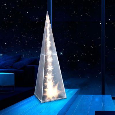 Pirâmide Est.Holograma Luzes LED 60cm