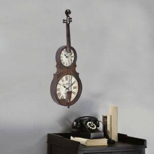 Relógio de Parede Violino Vintage Retro