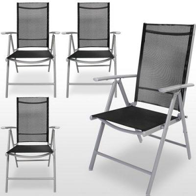 Conjunto 4 Cadeiras de Jardim Aluminio - CJJ1319