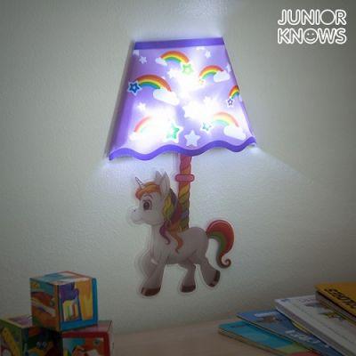 Autocolante com LED para Parede Unicórnio
